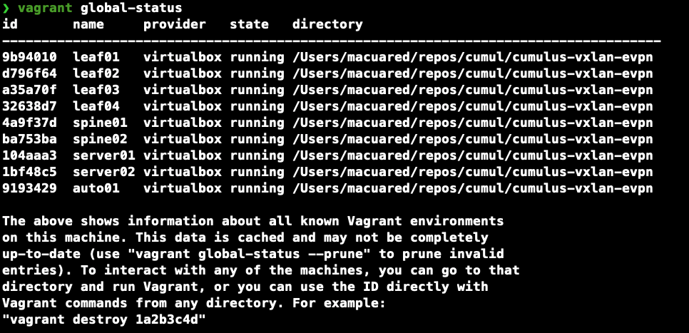 vagrant global-status